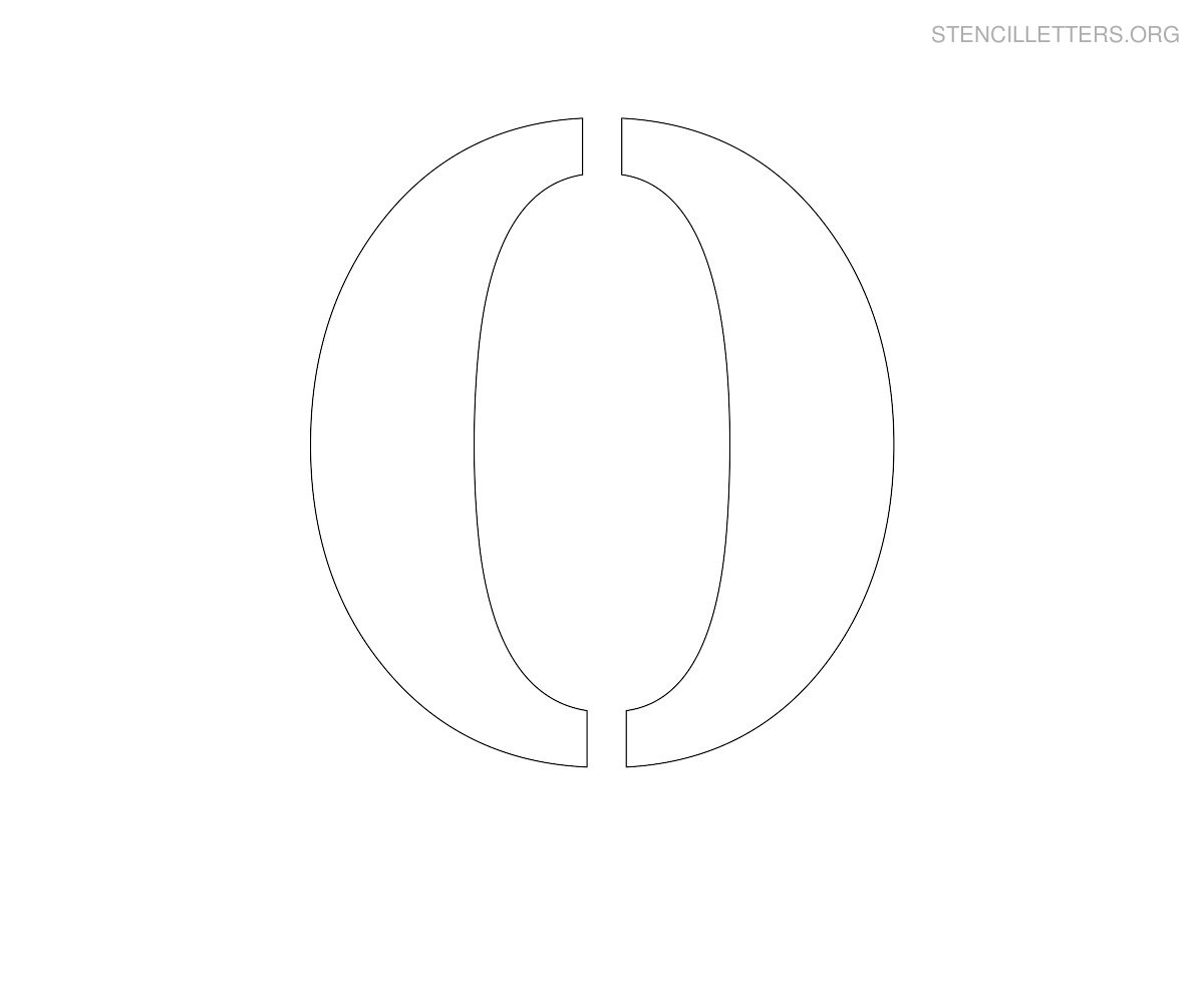 picture relating to Large Printable Letters named Stencil Letters O Printable Cost-free O Stencils Stencil