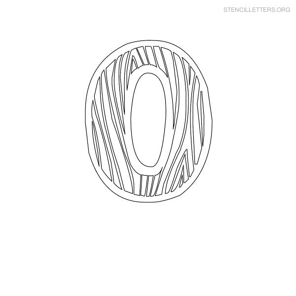 print free stencil letters o