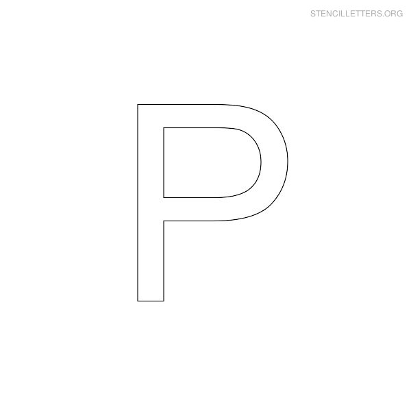Stencil Letter Arial P