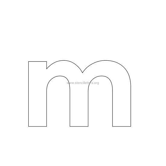 Lowercase M Lowercase Bold Stencil...