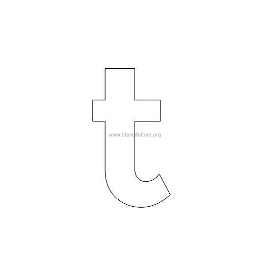 bold stencil letter t