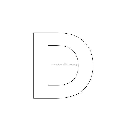 Capital Letter C Stencil