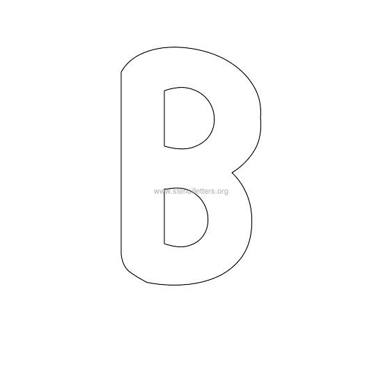 Bubble Letter Stencils | Stencil Letters Org