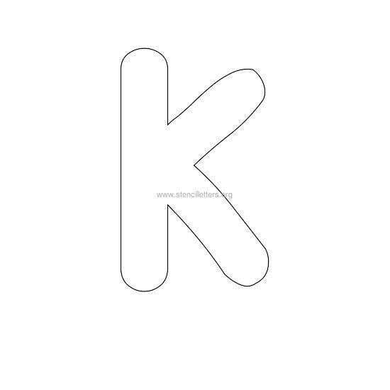 bubble stencil letter k