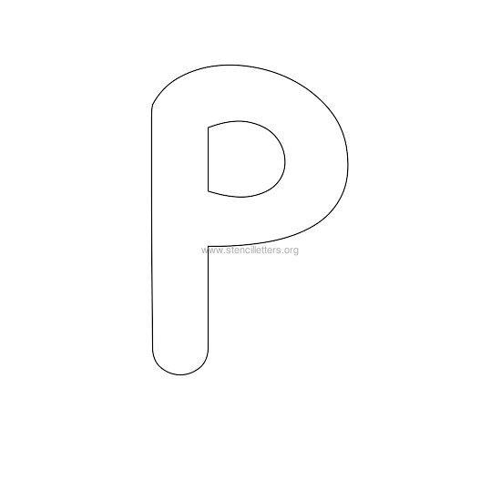bubble stencil letter p