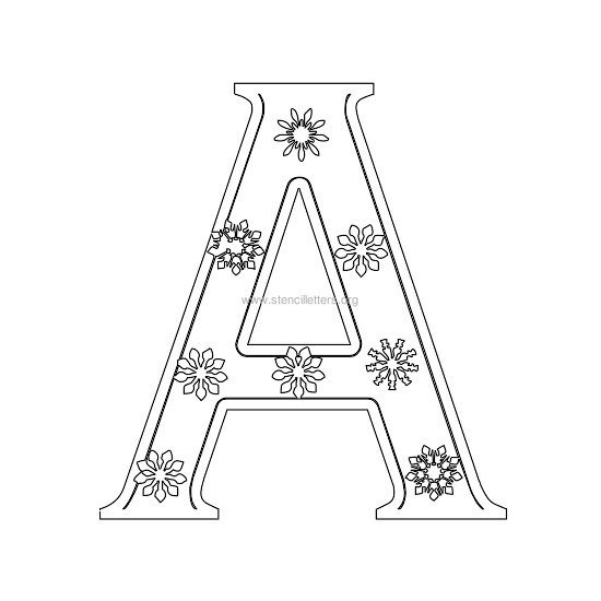 christmas stencil letter a