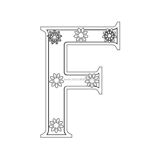 christmas stencil letter f
