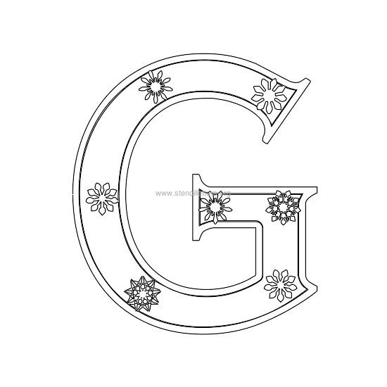 christmas stencil letter g