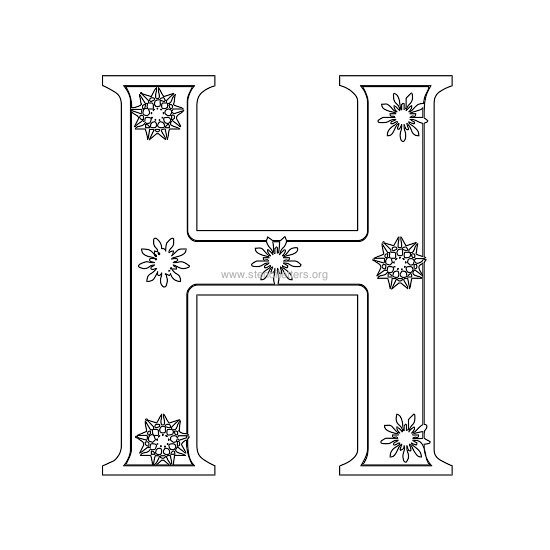 christmas stencil letter h