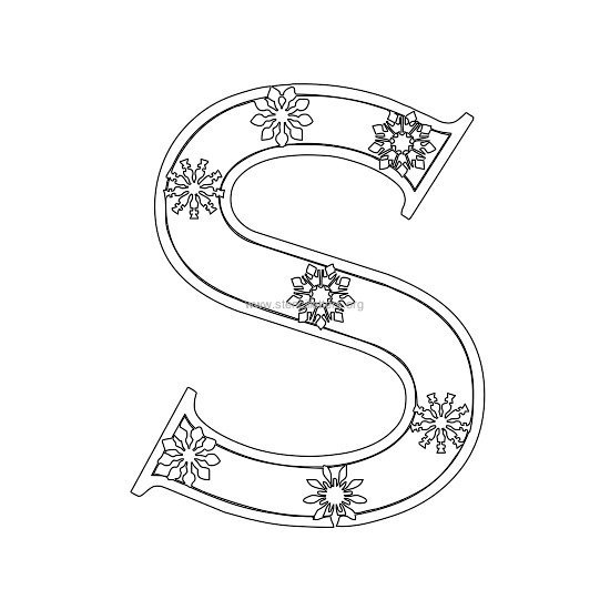 christmas stencil letter s