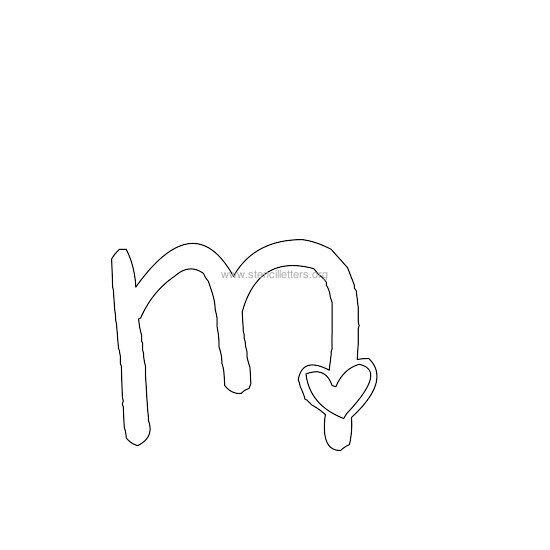 M Alphabet In Heart Heart Shaped Letter St...