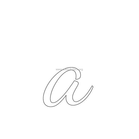 lowercase wedding stencil letter a