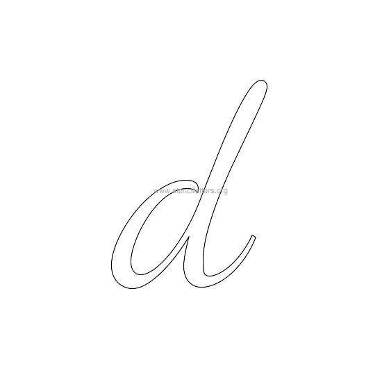 lowercase wedding stencil letter d