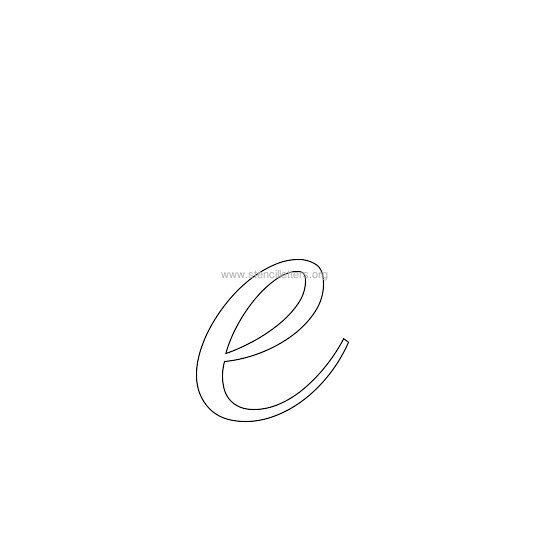 lowercase wedding stencil letter e