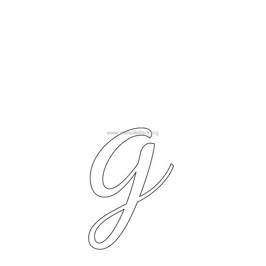 lowercase wedding stencil letter g