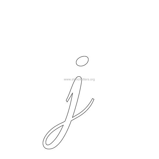 lowercase wedding stencil letter j