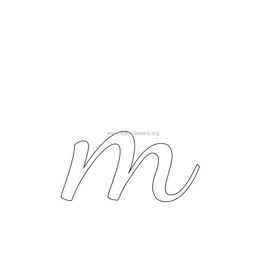 lowercase wedding stencil letter m
