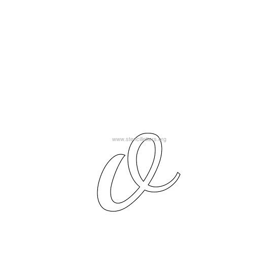 lowercase wedding stencil letter o