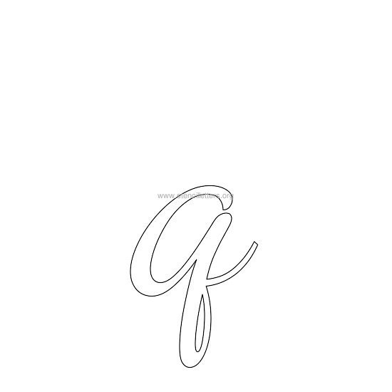 lowercase wedding stencil letter q