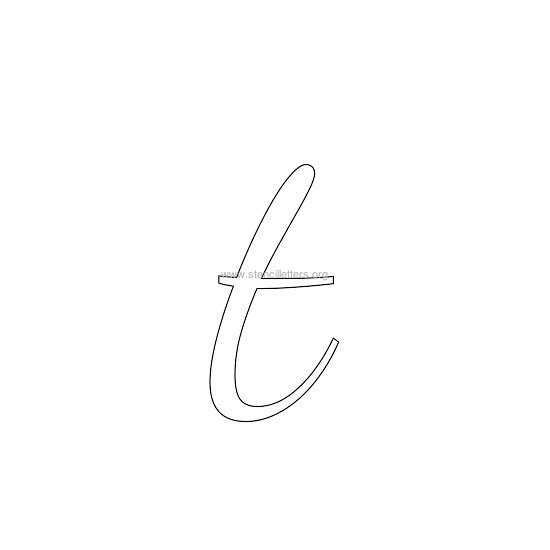 lowercase wedding stencil letter t
