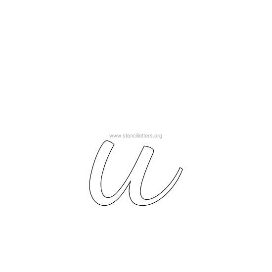 lowercase wedding stencil letter u