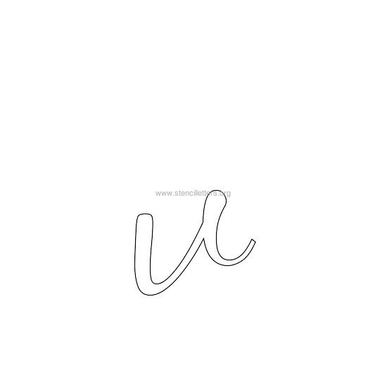 lowercase wedding stencil letter v