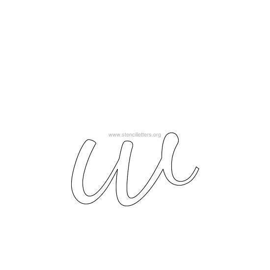 lowercase wedding stencil letter w