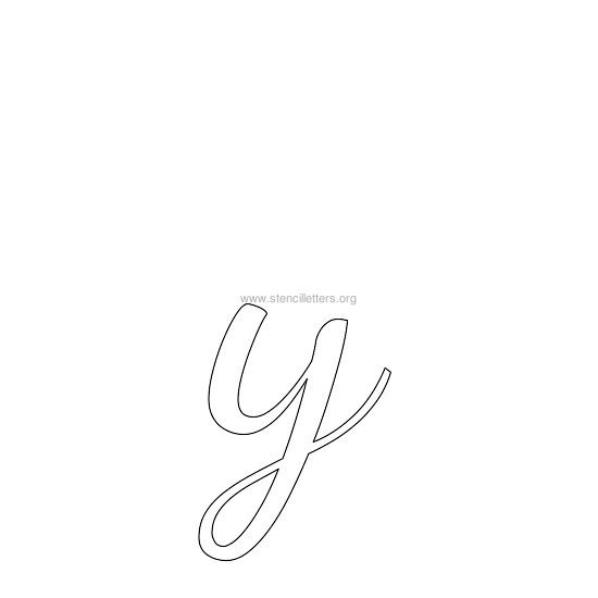 lowercase wedding stencil letter y