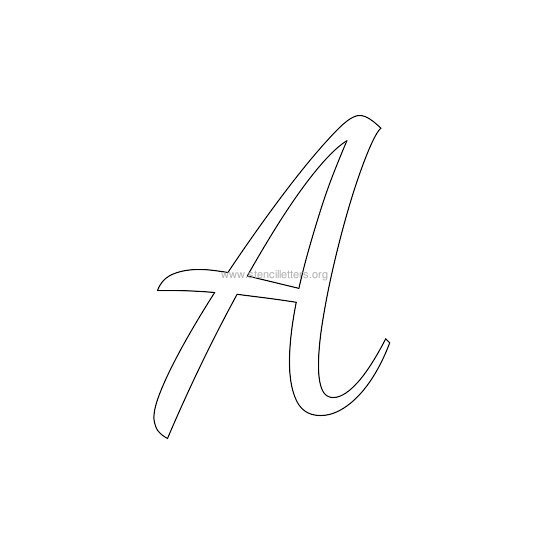 uppercase wedding stencil letter a