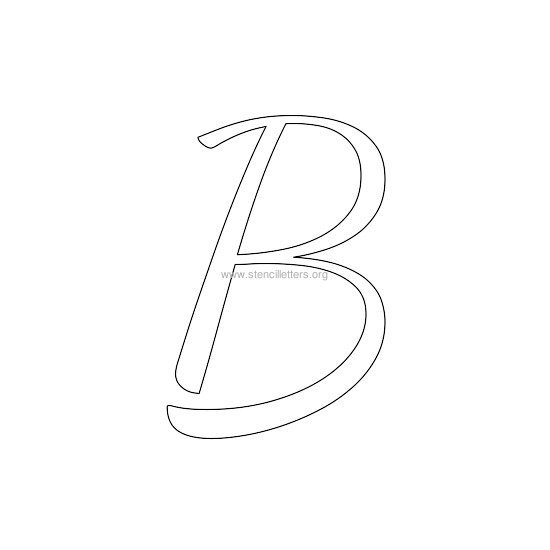 uppercase wedding stencil letter b