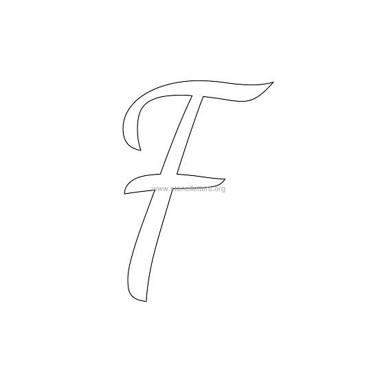 uppercase wedding stencil letter f
