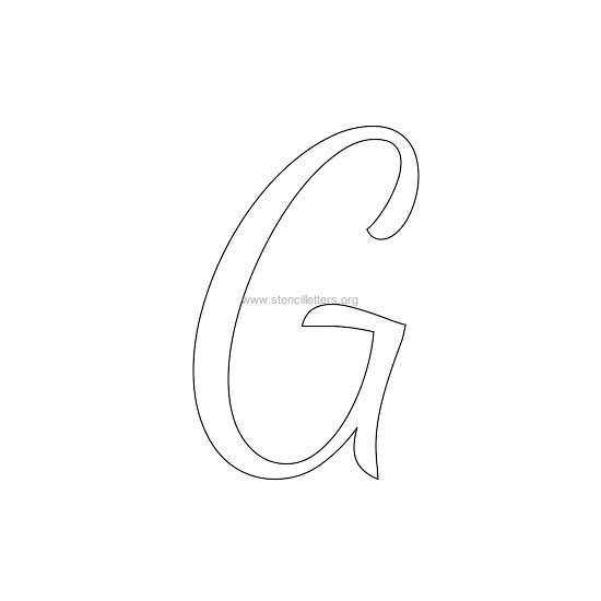 uppercase wedding stencil letter g