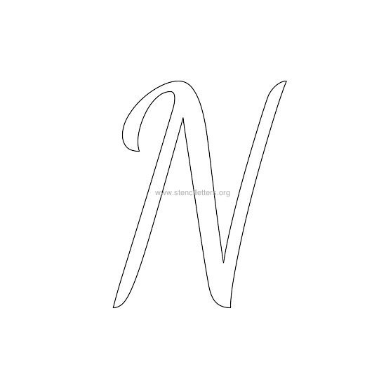 uppercase wedding stencil letter n