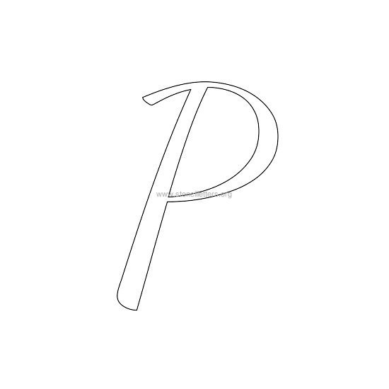 uppercase wedding stencil letter p