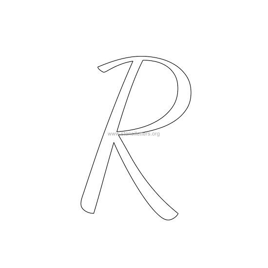 uppercase wedding stencil letter r