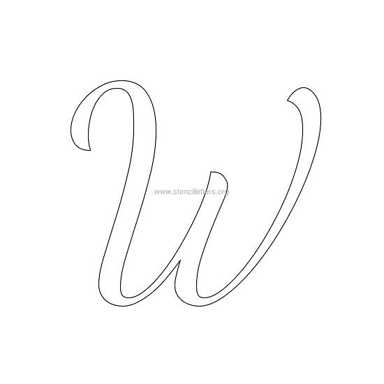 uppercase wedding stencil letter w