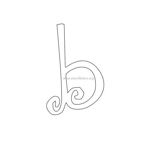 lowercase scrapbooking stencil letter b