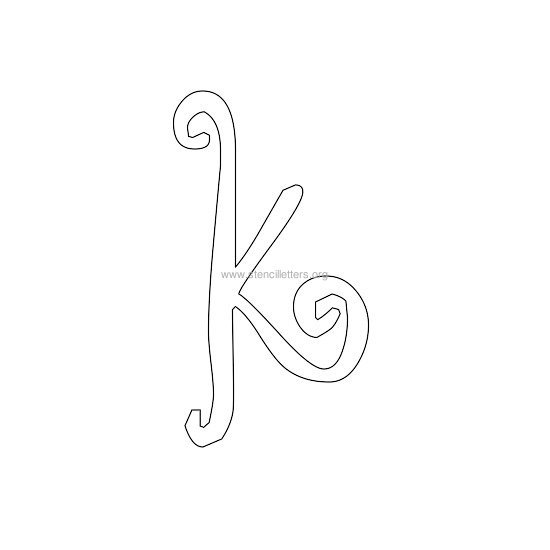 lowercase scrapbooking stencil letter k