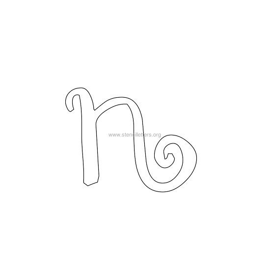 lowercase scrapbooking stencil letter n