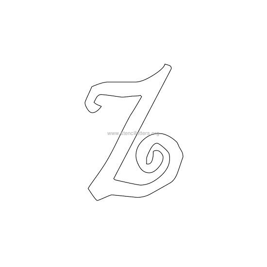 lowercase scrapbooking stencil letter z