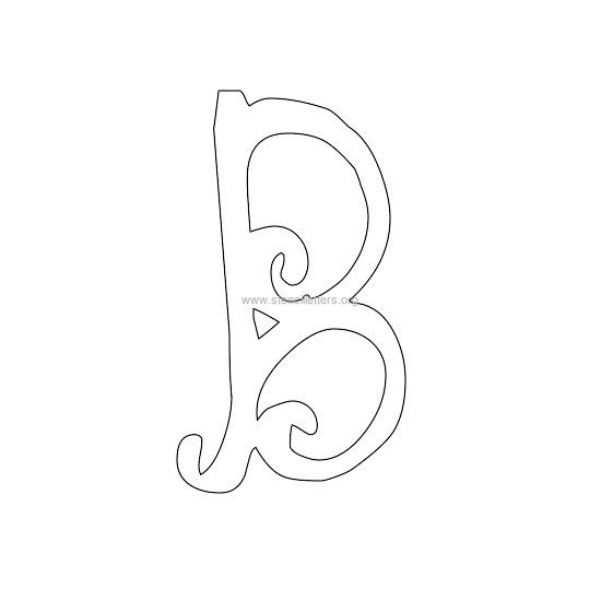 uppercase scrapbooking stencil letter b