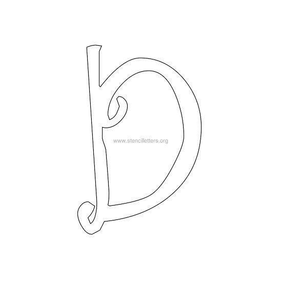 uppercase scrapbooking stencil letter d