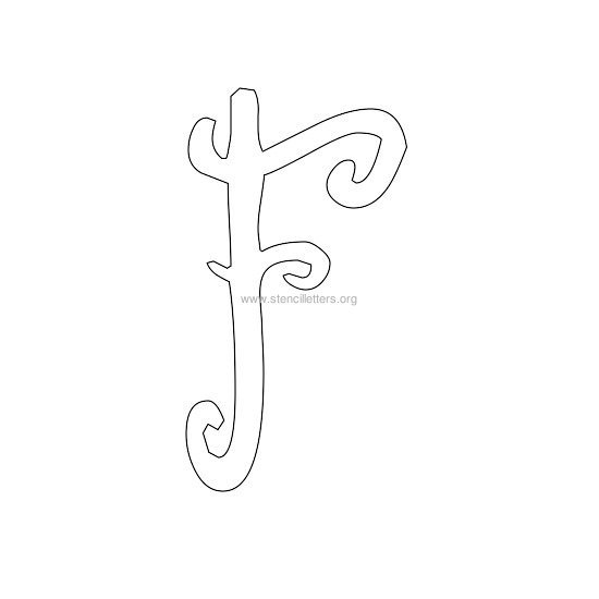 uppercase scrapbooking stencil letter f