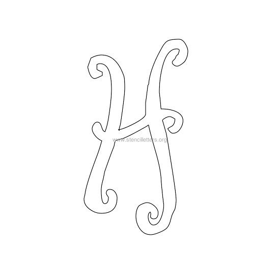 uppercase scrapbooking stencil letter h
