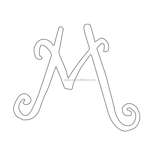 uppercase scrapbooking stencil letter m