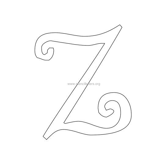 uppercase scrapbooking stencil letter z