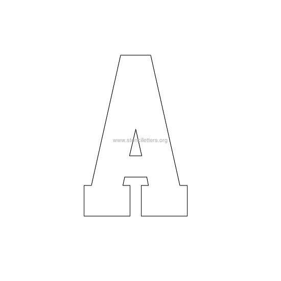 Varsity Letter Stencils | Stencil Letters Org