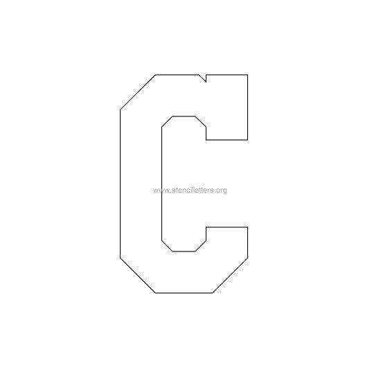 Varsity letter stencils stencil letters org varsity stencil letter c spiritdancerdesigns Gallery