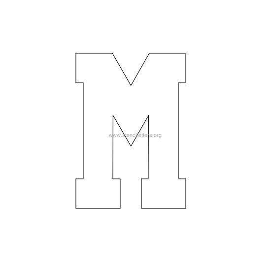 varsity-letter-stencil-m Varsity Letter Z Template on varsity sports letters, white letters z, varsity letters alphabet, blue letters z,