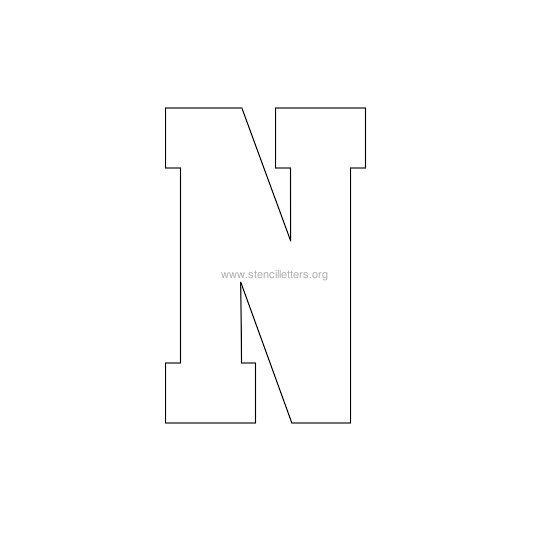 varsity-letter-stencil-n Varsity Letter Z Template on varsity sports letters, white letters z, varsity letters alphabet, blue letters z,